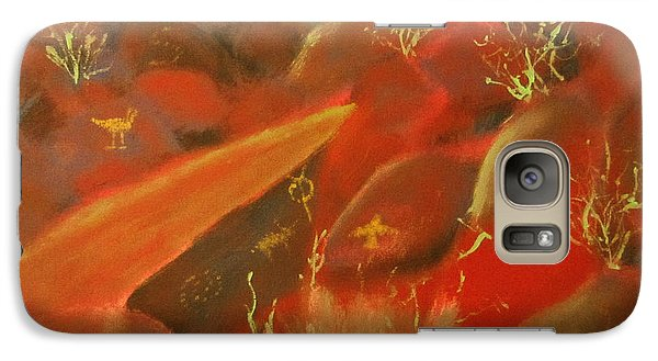 Galaxy Case featuring the painting Petroglyph Park by Keith Thue