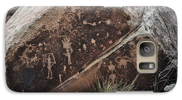 Galaxy Case featuring the photograph Petroglyphs by Cheryl McClure