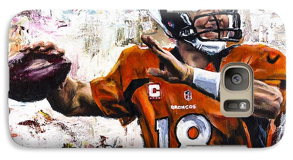 Peyton Manning Galaxy S7 Case by Mark Courage