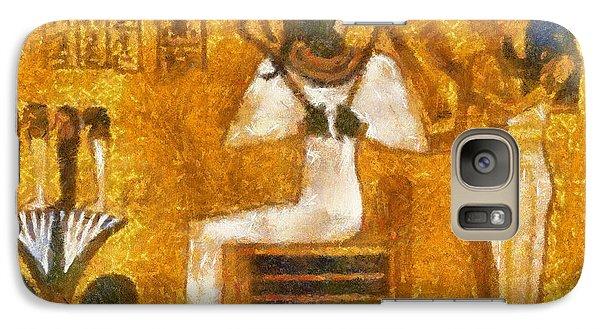 Galaxy Case featuring the painting Pharaoh  by Georgi Dimitrov