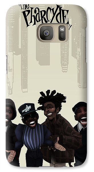 Galaxy Case featuring the drawing Pharcyde -passing Me By 1 by Nelson dedos Garcia