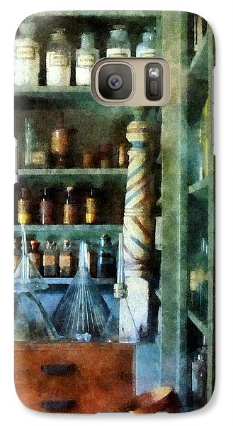 Galaxy Case featuring the photograph Pharmacy - Back Room Of Drug Store by Susan Savad