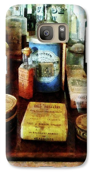 Galaxy Case featuring the photograph Pharmacy - Cough Remedies And Tooth Powder by Susan Savad