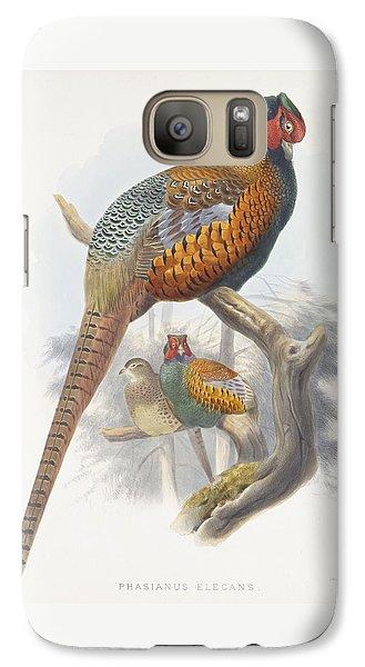 Phasianus Elegans Elegant Pheasant Galaxy S7 Case by Daniel Girard Elliot