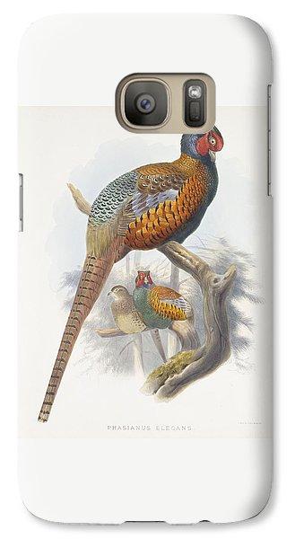 Phasianus Elegans Elegant Pheasant Galaxy S7 Case