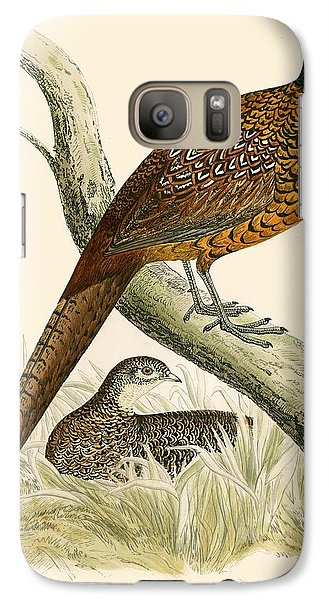 Pheasant Galaxy S7 Case by Beverley R Morris