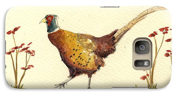 Pheasant In The Flowers Galaxy S7 Case
