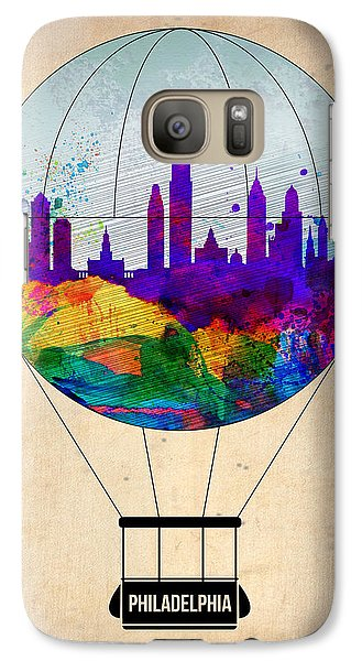 Philadelphia Galaxy S7 Case - Philadelphia Air Balloon by Naxart Studio