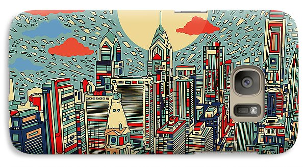 Philadelphia Skyline Galaxy S7 Case - Philadelphia Dream 2 by Bekim Art