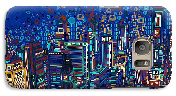Philadelphia Skyline Galaxy S7 Case - Philadelphia Panorama Pop Art 2 by Bekim Art