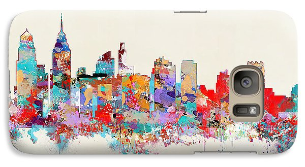 Philadelphia Skyline Galaxy S7 Case - Philadelphia Skyline by Bleu Bri