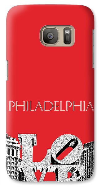 Philadelphia Skyline Love Park - Red Galaxy S7 Case