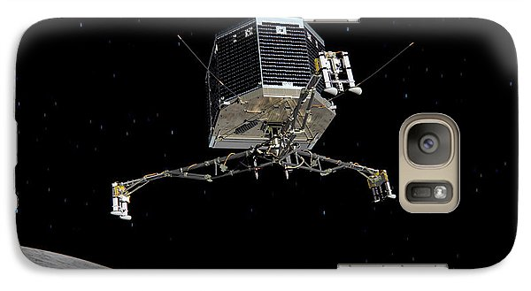 Galaxy Case featuring the photograph Philae Lander Descending To Comet 67pc-g by Science Source