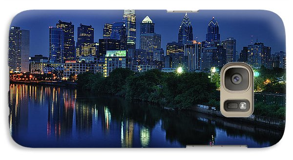 Philly Skyline Galaxy Case by Mark Fuller