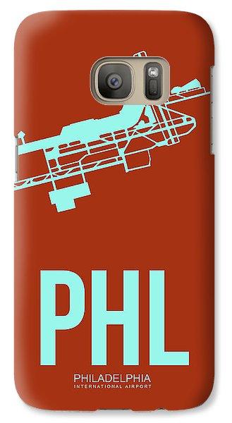 Phl Philadelphia Airport Poster 2 Galaxy S7 Case by Naxart Studio