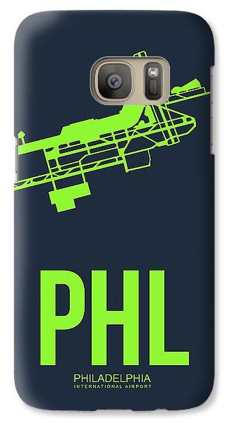 Philadelphia Galaxy S7 Case - Phl Philadelphia Airport Poster 3 by Naxart Studio