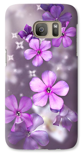 Galaxy Case featuring the photograph Phlox And Lilies by Judy  Johnson