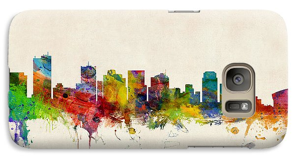 Phoenix Arizona Skyline Galaxy Case by Michael Tompsett