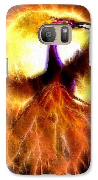 Galaxy Case featuring the mixed media Phoenix Bird by Daniel Janda