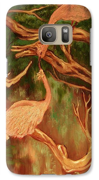 Galaxy Case featuring the painting Phoenix-dares To Love Again by Beth Arroyo