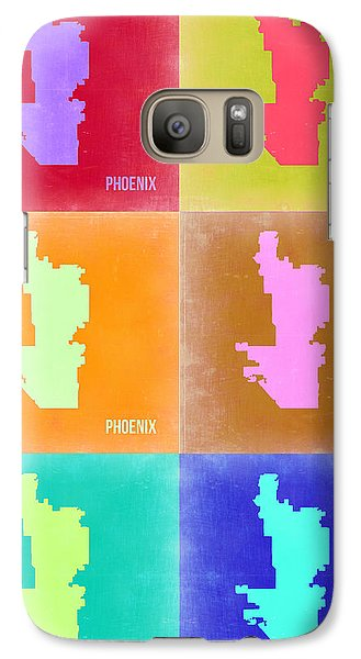 Phoenix Pop Art Map 3 Galaxy Case by Naxart Studio