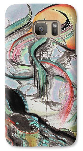 Galaxy Case featuring the painting Phoenix Rising by Asha Carolyn Young