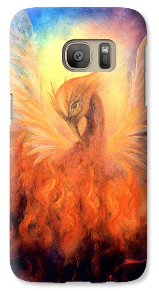 Galaxy Case featuring the painting Phoenix Rising by Marina Petro