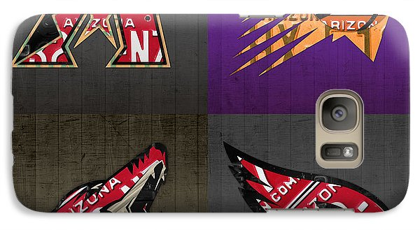 Phoenix Sports Fan Recycled Vintage Arizona License Plate Art Diamondbacks Suns Coyotes Cardinals Galaxy S7 Case