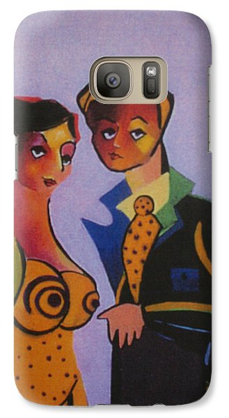 Galaxy Case featuring the painting Photo Op by Karin Eisermann