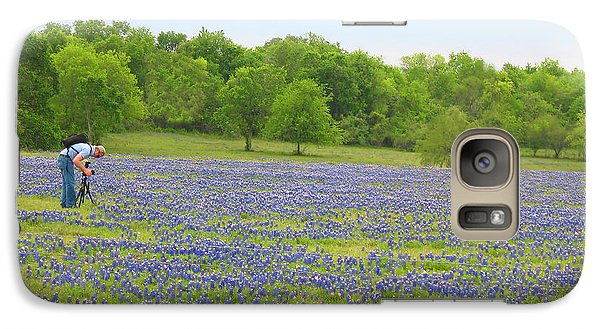 Galaxy Case featuring the photograph Photographing Texas Bluebonnets by Connie Fox