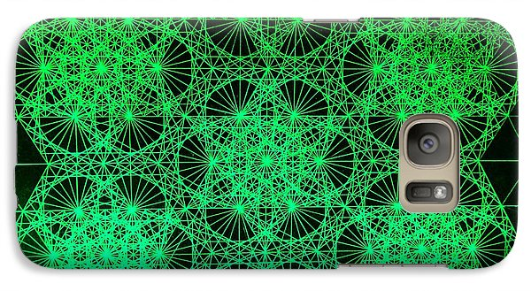 Galaxy Case featuring the drawing Photon Interference Fractal by Jason Padgett