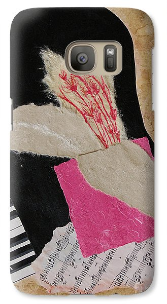 Galaxy Case featuring the painting Piano Still Life by Mini Arora