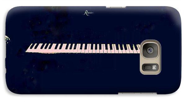 Galaxy Case featuring the mixed media Piano by YoMamaBird Rhonda