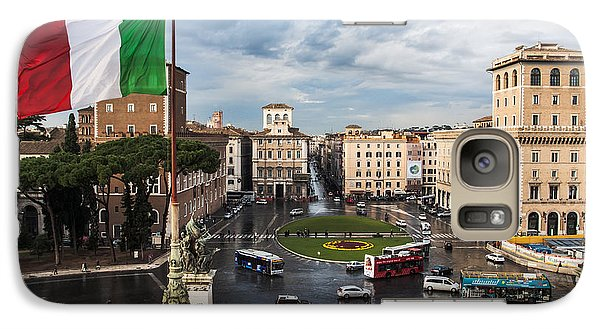 Galaxy Case featuring the photograph Piazza Venezia by John Wadleigh