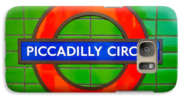 Galaxy Case featuring the photograph Piccadilly Circus Tube Station by Luciano Mortula