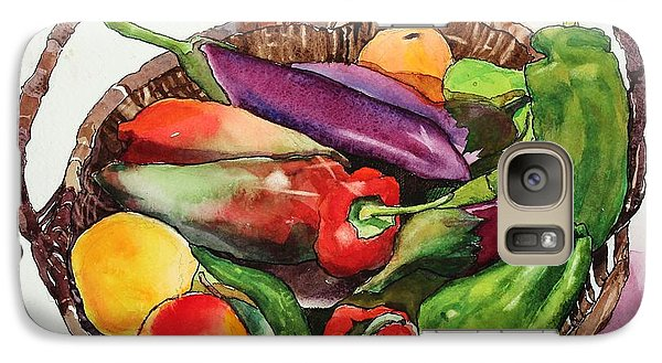 Galaxy Case featuring the painting Pick A Peck by Elizabeth Carr
