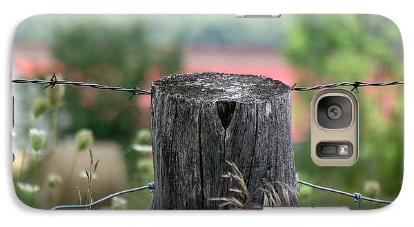 Galaxy Case featuring the photograph Picket Fence Wild Flowers by France Laliberte