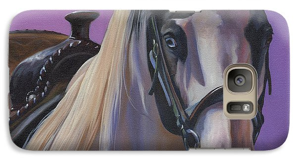 Galaxy Case featuring the painting Piebald by Alecia Underhill
