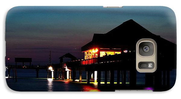 Galaxy Case featuring the photograph Pier 60 In After Glow by Richard Zentner