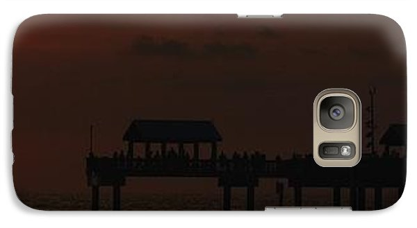Galaxy Case featuring the photograph Pier 60 Sunset Panorama by Richard Zentner