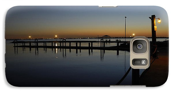 Galaxy Case featuring the photograph Pier At Chandlers Landing Rockwall Tx by Charles Beeler