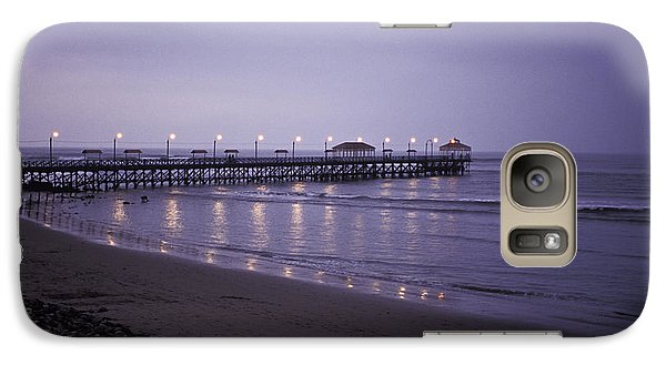 Galaxy Case featuring the photograph Pier At Dusk by Lana Enderle
