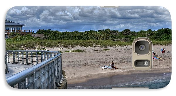 Galaxy Case featuring the photograph Pier At Sebastian Inlet by Timothy Lowry