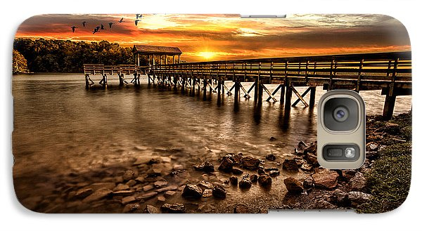 Galaxy Case featuring the photograph Pier At Smith Mountain Lake by Joshua Minso