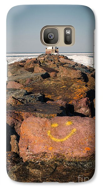 Galaxy Case featuring the photograph Pier Happiness by Mark David Zahn