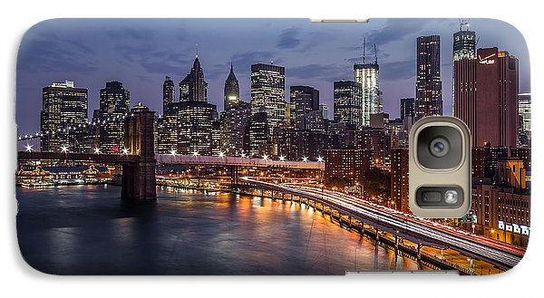 Galaxy Case featuring the photograph Piercing Manhattan by Mihai Andritoiu