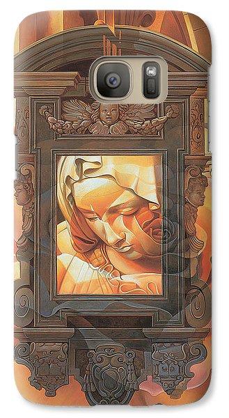 Galaxy Case featuring the painting Pieta by Mia Tavonatti