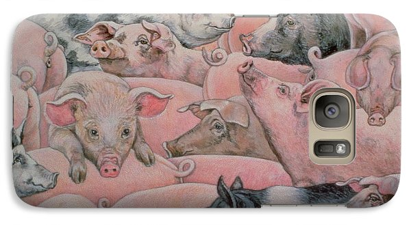 Pig Spread Galaxy S7 Case by Ditz