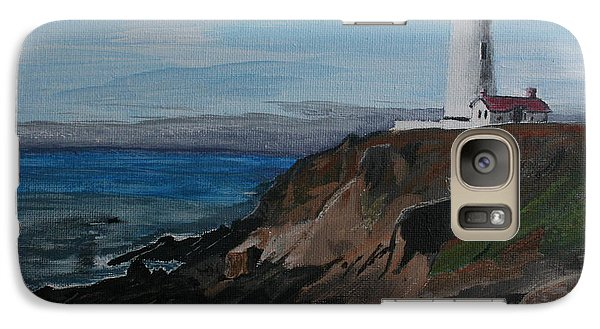 Galaxy Case featuring the painting Pigeon Lighthouse Daytime Titrad by Ian Donley