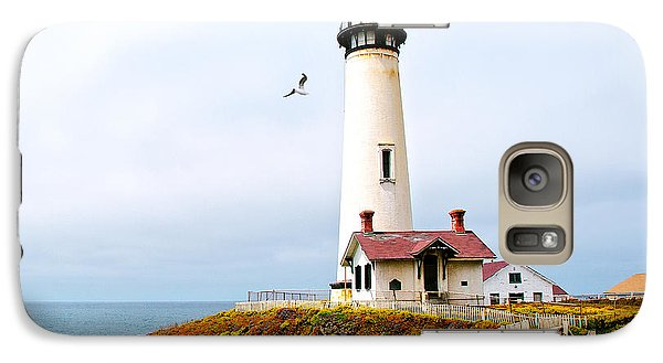 Galaxy Case featuring the photograph Pigeon Point Lighthouse by Artist and Photographer Laura Wrede